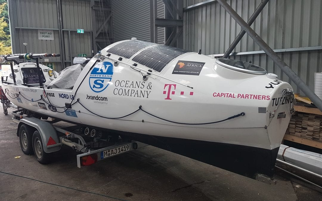 HOTS Transportation of Ocean Rowing Boat